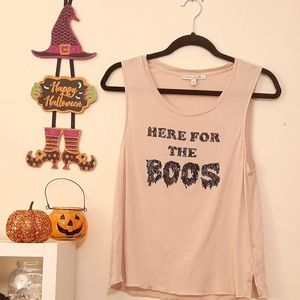 Express Tops - Halloween Sequin Here for the Boos NWOT Tee